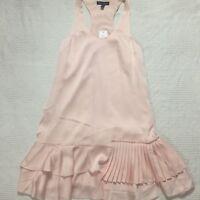 New Banana Republic womens size 8P 8 petite dress peach sleeveless lined unique