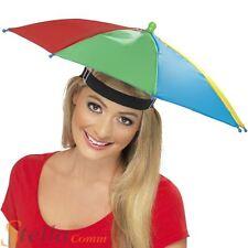 Umbrella Hat Multi Colour Waterproof Rain Hat Golf Fishing Brolly Fancy Dress