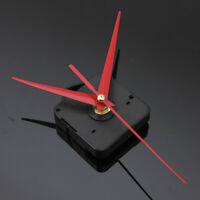 Red Long Hands Quartz Wall Clock Spindle Movement Mechanism Part DIY Repair Kit