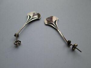 Pat Cheney Silver Earrings.
