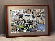 "The X-FILES ""Mulder le Mur"" Large Poster - 59.4 x 42 cm ou 16.5 x 23.4 in (environ 59.44 cm)"