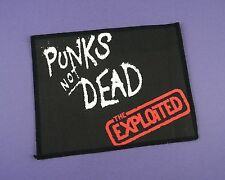 The Exploited - Punks Not Dead -  Vintage Sew On Cloth Patch