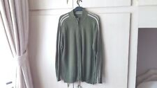 Mens Cardigan 2xl Khaki Cable Knit Sporty Jumper xxl Sweater V.Good Condition