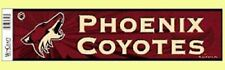 """12"""" x 3"""" Nhl® Hockey Phoenix Coyotes Bumper Sticker - Support Your Team"""