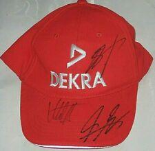 MICHAEL SCHUMACHER NORBERT HAUG PEDRO LAMY Autographed Signed Red DEKRA Hat Cap