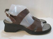 Josef Seibel Brown Leather Strappy Sling Back Sandals Women's size 42 US 11