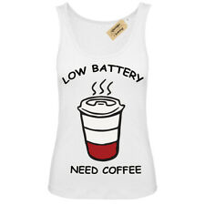 Low Battery Need Coffee caffeine lovers Vest White Womens