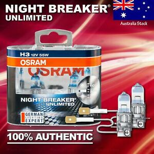2x H3 453 OSRAM Night Breaker UNLIMITED +110% DuoBox Bulbs Lamps for FRONT FOG