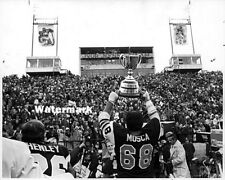 CFL 1972 Hamilton Tiger Cats  Angelo Mosca with Grey Cup 8 X 10 Photo Picture