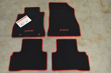 NEW Genuine OEM Nisan Juke black carpet mats with red accent 999E2-6X001