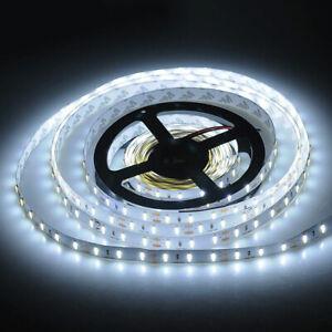 5M 12V LED Strip Tape Under Cabinet Lighting Camper Van Caravan Cool White Light
