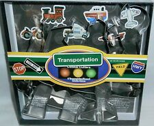 TRANSPORATION Themed Cookie Cutters by Fox Run  6 Pcs
