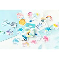 Weather Sticker Pack,46 pc,Sunshine Stickers,Planner Stickers for Bullet Journal