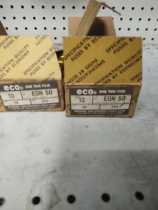ECONOMY EON 50 AMP 250 V FUSE BOX OF 10