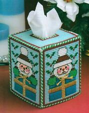 SANTA TISSUE BOX COVER CHRISTMAS PLASTIC CANVAS PATTERN INSTRUCTIONS