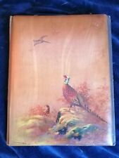 Beautiful Charles Beresford Hopkins vintage hand-painted wooden book album cover