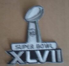 2012 SB XLVII Super Bowl 47  Balt Ravens SF 49ers Sew On Patch FREE  SHIPMENT