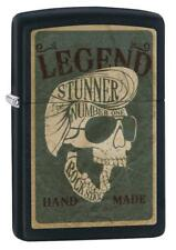 "Zippo Lighter ""Legend Skull"" No 29630 on black matte finish"