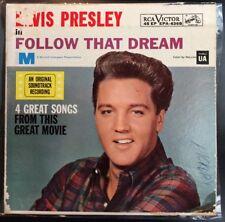 ELVIS Follow That Dream (7in 45rpm EP + PS, RCA EPA-4368) VINYL EXCELLENT