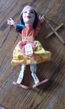 Vintage Fortune Teller Marionette Gypsy Doll String Puppet