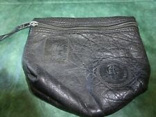 Vintage Carlos Falchi Buffalo Women's Pouch Small Mini Bag Make Up Toiletry