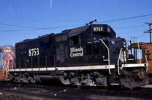 Illinois Central GP11 # 8753 @ Chicago, IL 8/07/1989