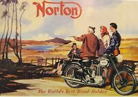 Norton In Scotland Reproduction Vintage Postcard Mayfair Cards of London