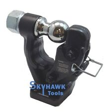 """COMBO PINTLE HOOK 2"""" BALL TRAILER TRUCK HITCH TOWING 10,000 lbs Capacity"""