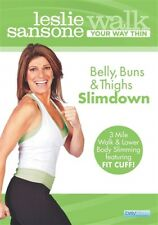 LESLIE SANSONE WALK YOUR WAY THIN BELLY BUNS & THIGHS SLIMDOWN New Sealed DVD