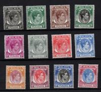 Malaya Penang 1949-52 KGVI LHM collection to $1 WS22229