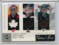 2002-03 UPPER DECK MASK COLLECTION JOSEPH, BURKE & TURCO GAME USED TRIPLE JERSEY