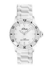 s.Oliver Damenuhr Uhr Armbanduhr Silikonarmband SO 2291 PQ weiß s.Oliver Colors