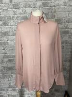 MSCH Copenhagen Ladida Miram Shirt Pink Peach Blouse Silk Size S NEW