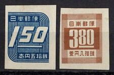 Japan 1948 Sc#413-414 - 1.50y-3.80y Imperf Set of 2 Mint NGAI MHR VF