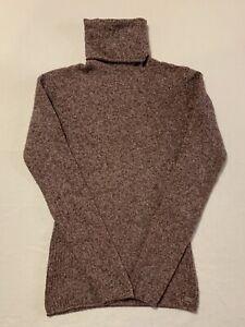 Women's COLUMBIA Sportswear Roll Neck SWEATER Size Small Maroon Knit Turtleneck