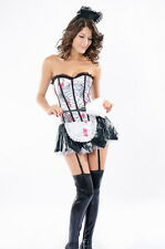 Sexy Women's Horror Halloween Zombie French Maid Fancy Dress Costume