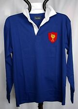 CLASSIC FRENCH RETRO  COMBED COTTON  RUGBY SHIRT