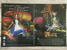 American McGee's Alice PC Game 2000 Double Page Vintage Promo Ad Print Poster