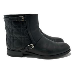 CHRISTIAN DIOR BLACK CANNAGE 'CITY' ANKLE BOOTS, 37, $1125