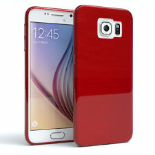 Schutz Hülle für Samsung Galaxy S6 Brushed Cover Handy Case Rot