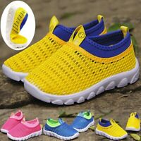Infant Kids Mesh Trainers Baby Boys Girls Sport Running Sneakers Casual Shoes AB