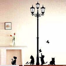 Removable Black Lamp Cat Bird Wall Sticker Decals Animal Home Decor Vinyl Art