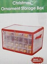 """CHRISTMAS ORNAMENT STORAGE BOX  20.75""""L x 12""""W x 12""""H Holds Up To 112 Ornaments"""