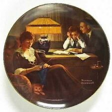 Rockwells Light Campaign collector plate Fathers Help Knowles Original box Coa