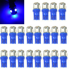 20 -Pack T10 Wedge 5-SMD Blue 5050 Led light Bulbs Lamp w5w 2825 158 192 168 194