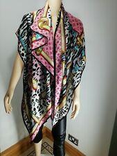 Designer Inspired Silk Scarf Pashmina Pink Grey Soft Silky Oversized Long NEW