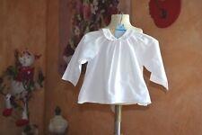 blouse bonpoint rose tres tres pale 6 mois legere colorette tres ete