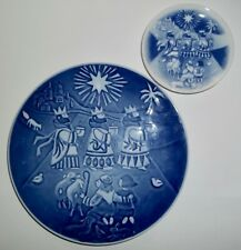 TWO Royal Copenhagen CHILDREN'S CHRISTMAS PLATES 2006 'The Three Wise Men'