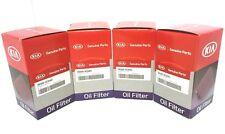 2010-2016 Kia Cadenza Sedona Sorento Engine Oil Filter Kit 4 PACK 26320-3CAA0