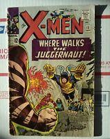 X-Men 13  GREAT SHAPE 2nd Juggernaut Marvel Comics 1965 xmen x men #13